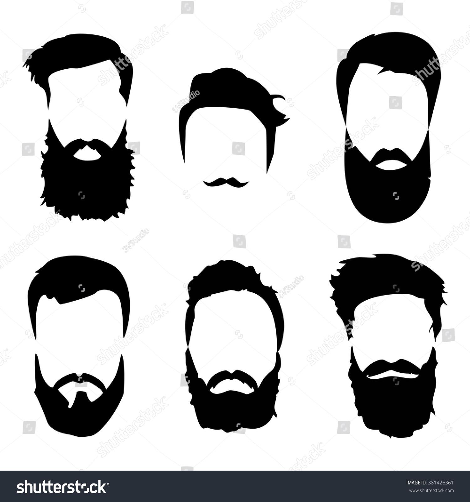 beard clipart doodle