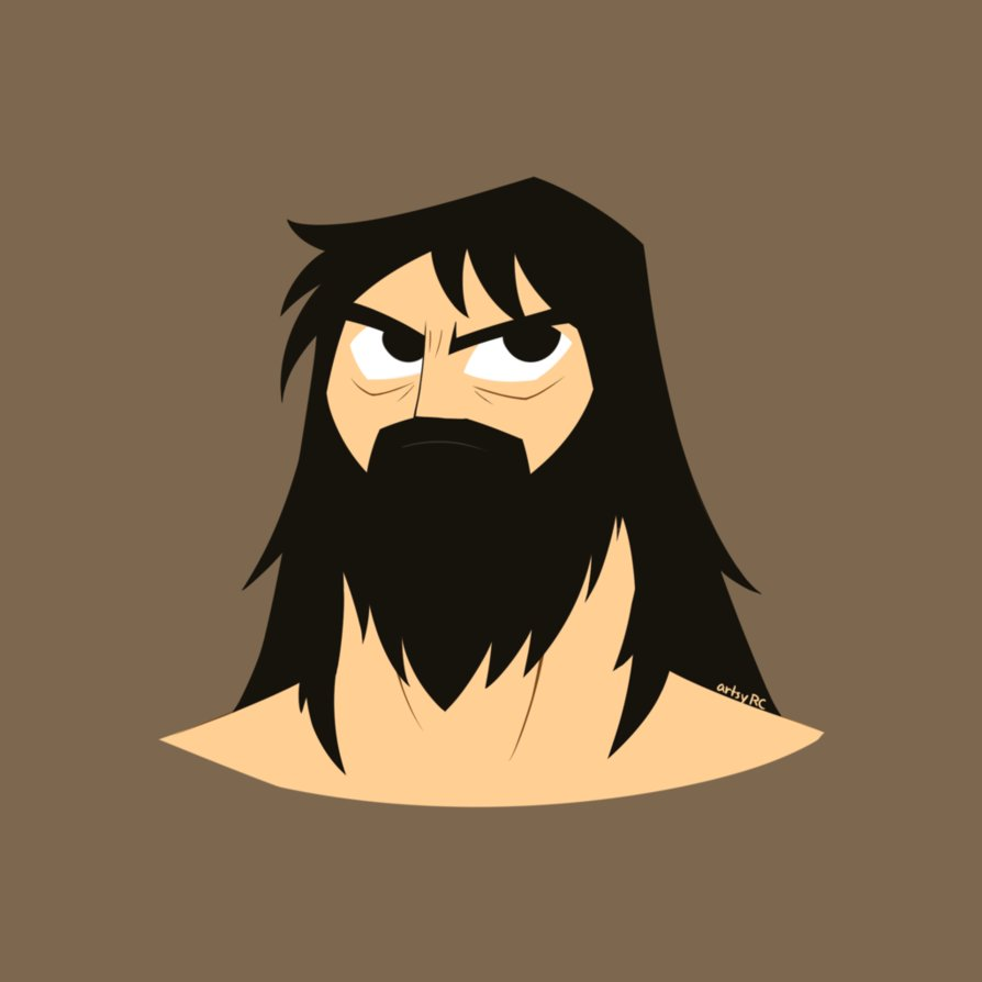Beard clipart doodle. Samurai jack by artsyrc