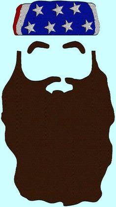 Beard clipart duck dynasty beard. Template birthdays pinterest for