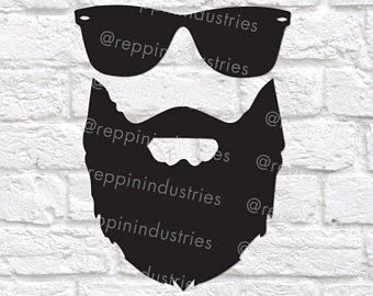 Beard clipart eyeglasses. Clip on sunglasses etsy