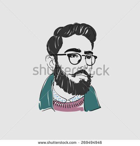 Beard clipart eyeglasses. Handsome arabian young man
