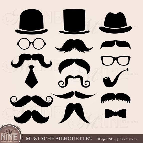 Mustache clip art mustaches. Beard clipart eyeglasses