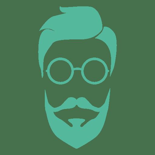 Green hipster man transparent. Beard clipart eyeglasses