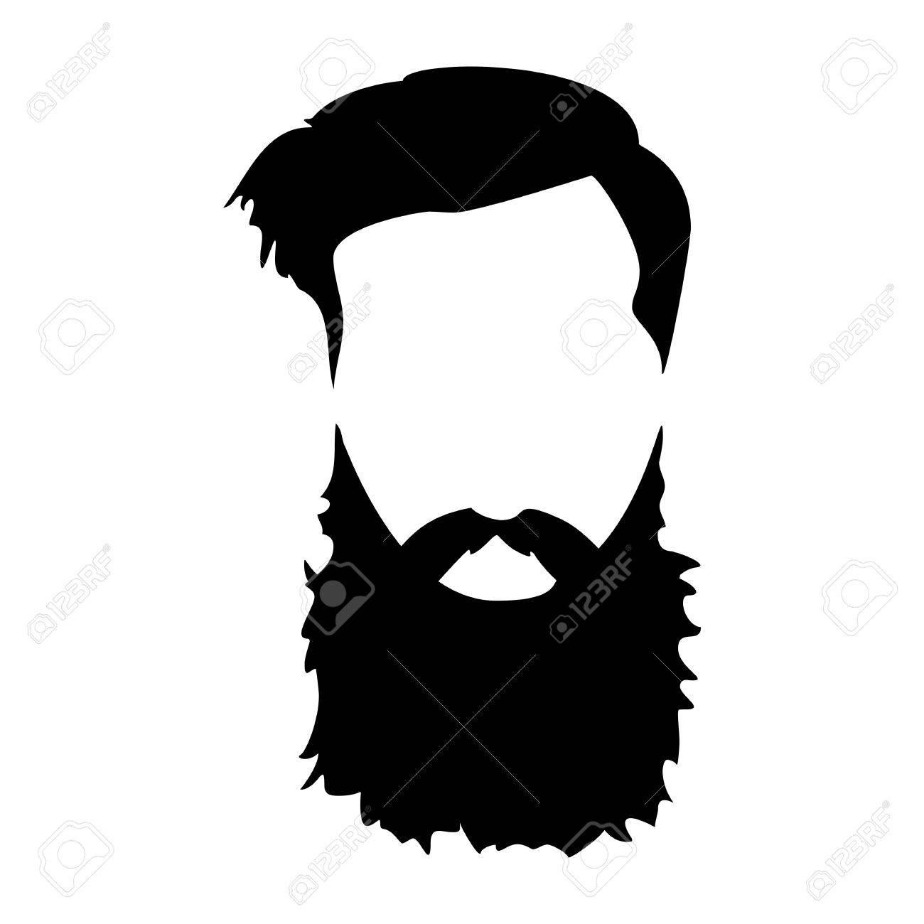 Beard clipart facial hair. Hipster detailed and beards