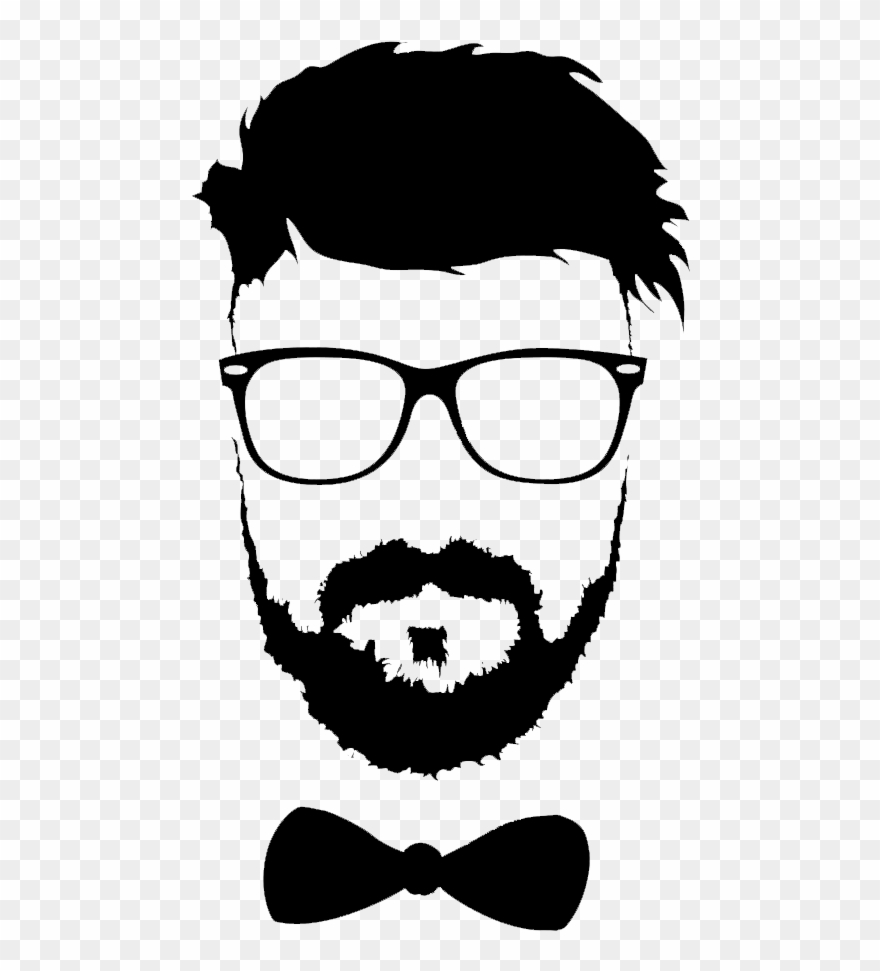 Beard clipart file. Hairstyle moustache glasses png