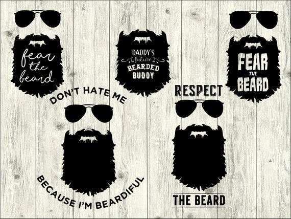 Svg bundle mustache cut. Beard clipart file