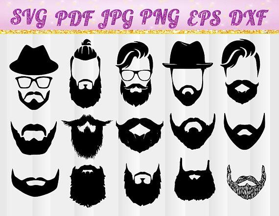 Beard clipart file. Svg long digital for