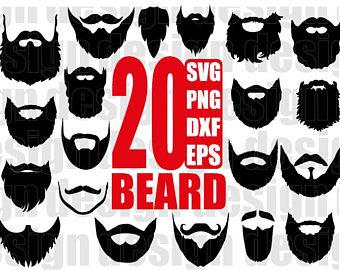 Hipster etsy svg long. Beard clipart file
