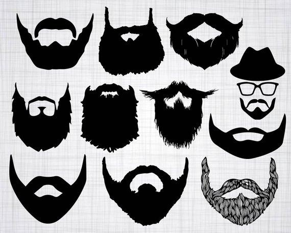 Beard clipart file. Svg bundle cut files