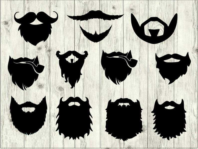 Beard clipart file. Svg bundle hipster cut