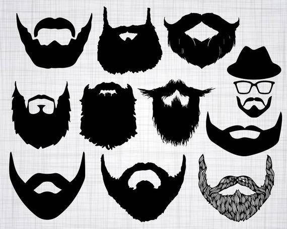 Svg bundle cut files. Beard clipart file