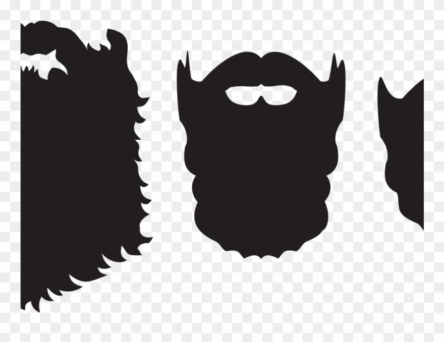 Beard clipart full beard. Silhouette png download