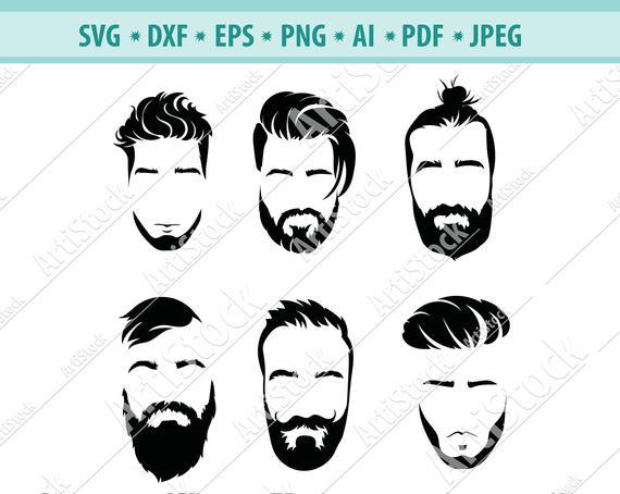 Beard clipart hipster beard. Man svg beards face