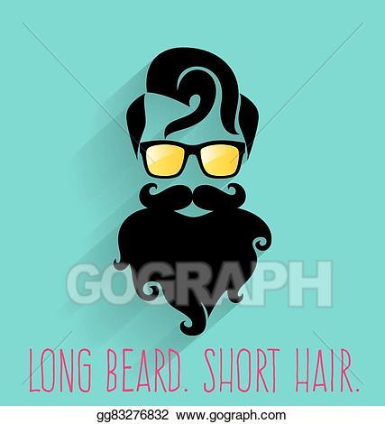Clip art vector long. Beard clipart hipster beard