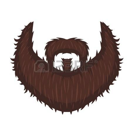 Beard clipart illustration. Pencil and in color