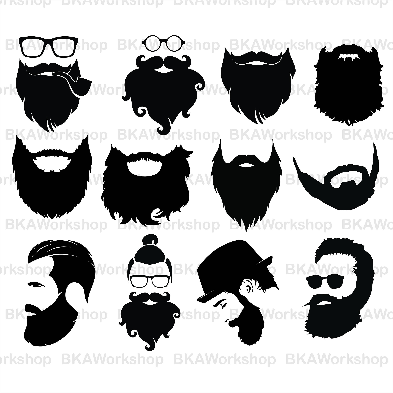 Svg digital this is. Beard clipart long beard