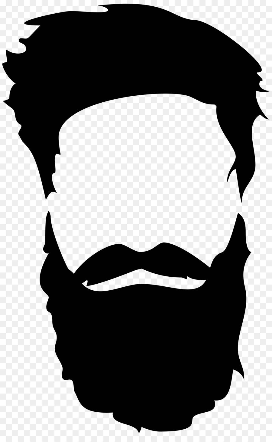 Silhouette royalty free and. Beard clipart long beard