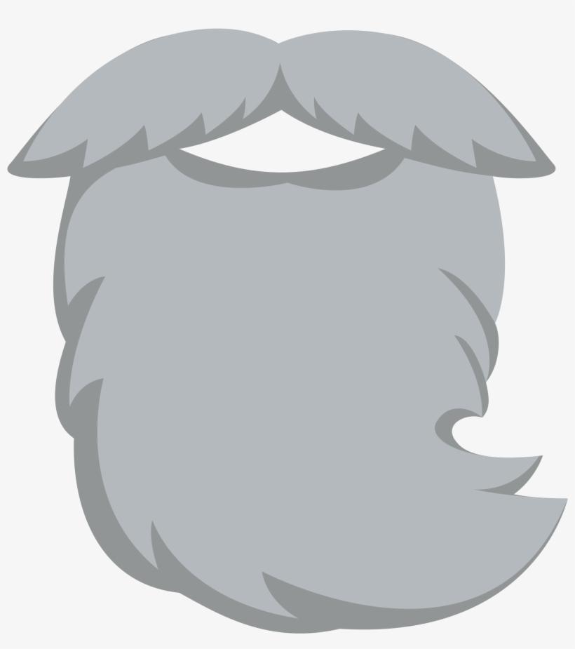 Grey gray png image. Beard clipart long beard