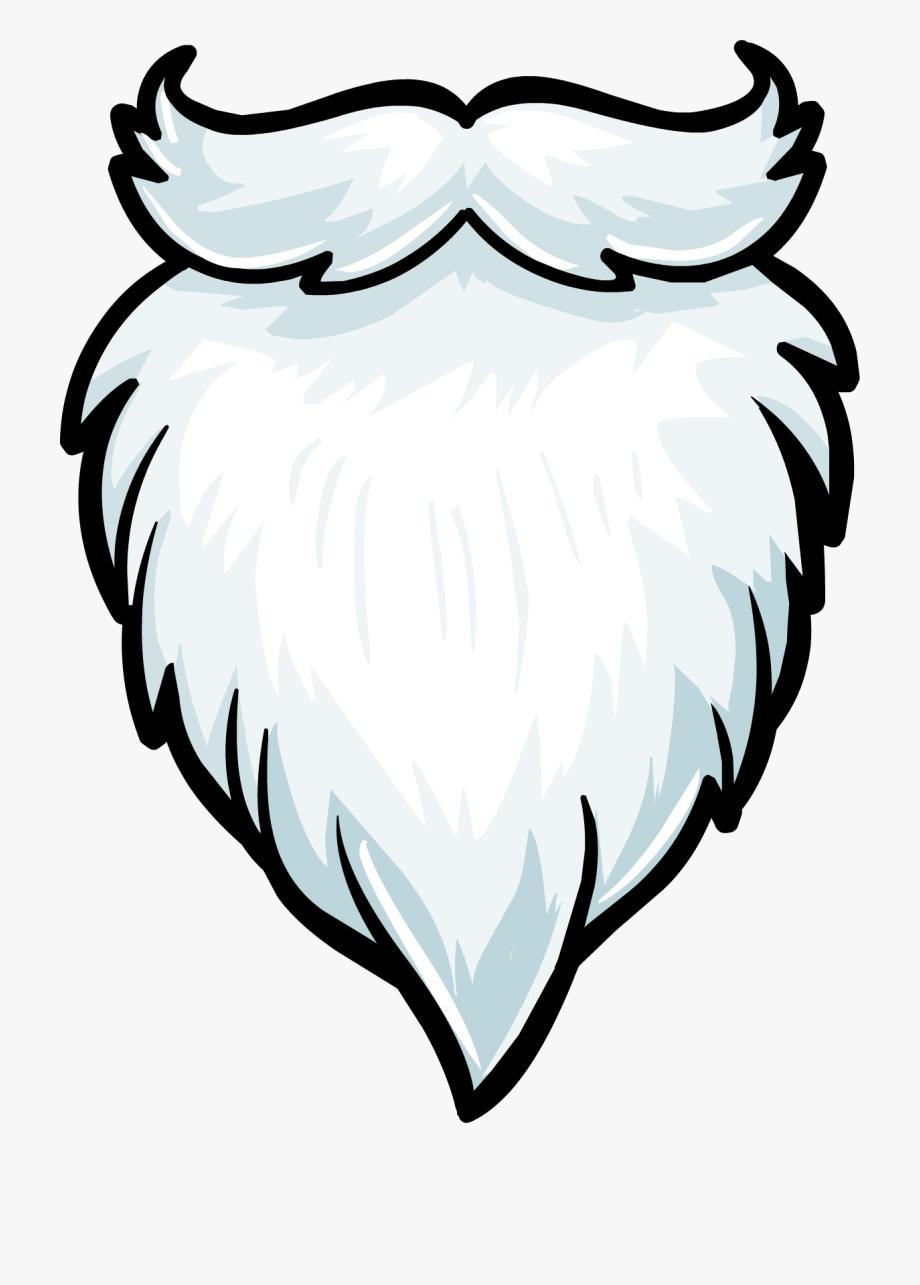 Beard clipart long beard. Santa hat white free