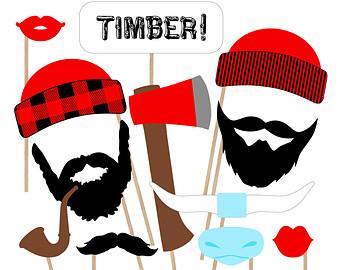 Beard clipart lumberjack beard. Silhouette clip art at