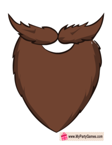 Free printable brown photo. Beard clipart lumberjack beard