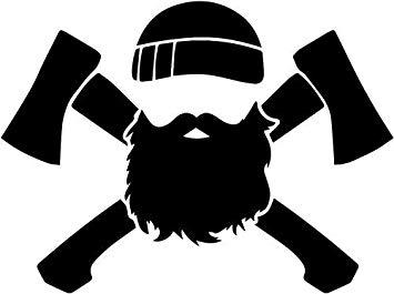 Beard clipart lumberjack beard. Amazon com axe man