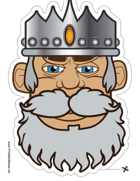 A solemn gray bearded. Beard clipart mask