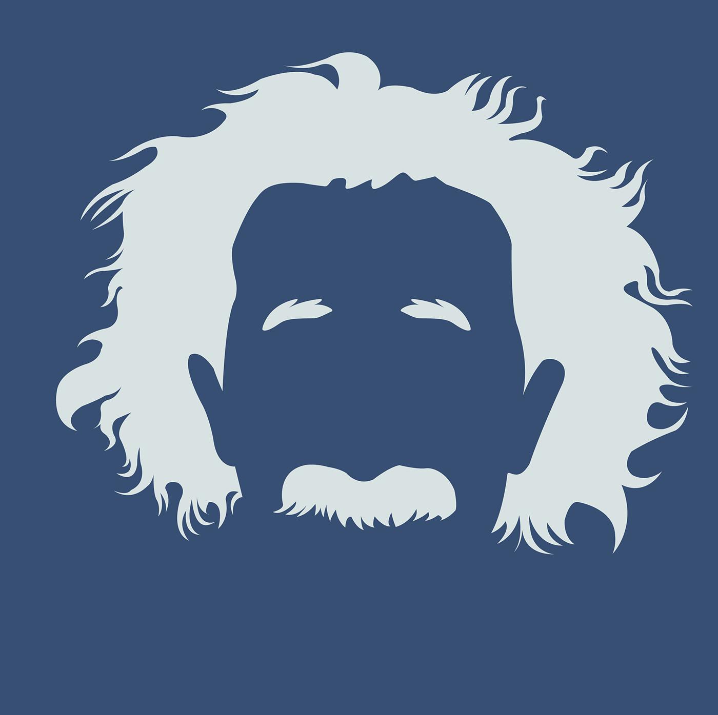 Beard clipart minimalist. Albert einstein art on