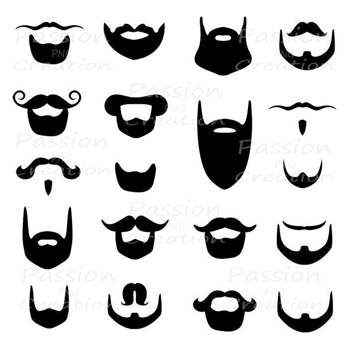 beard clipart mustache