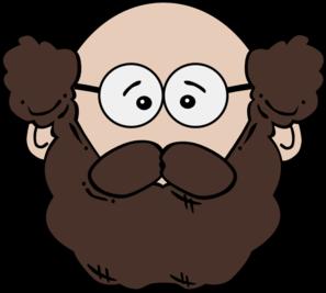 Mustache clipart mustache man. Balding with and beard