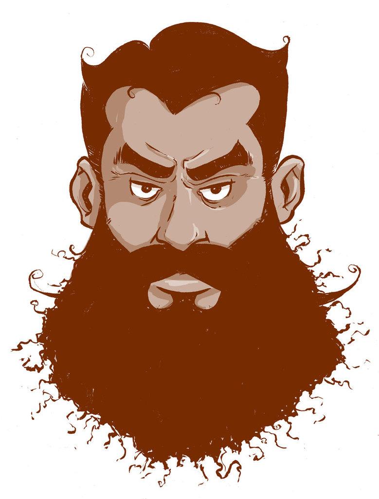 Man by phillip r. Beard clipart orange beard