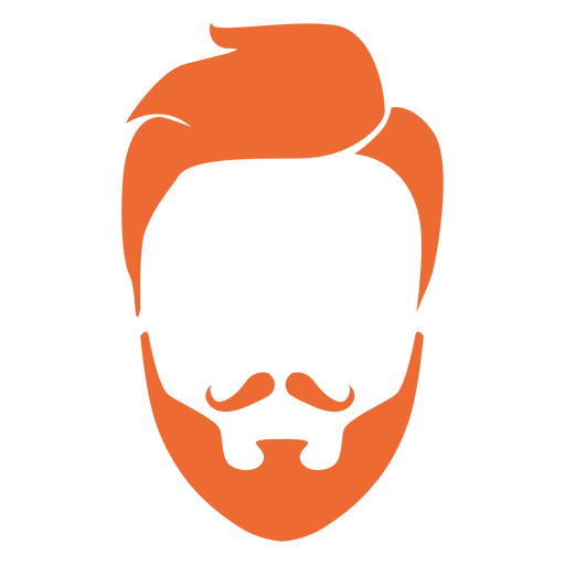 Beard clipart orange beard. Hipster man and moustache