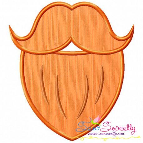 St patrick s day. Beard clipart orange beard