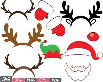 Christmas props party booth. Antlers clipart raindeer