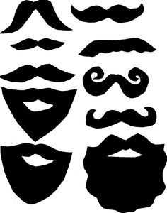 Printable photo booth prop. Beard clipart pirate beard