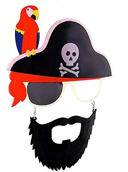 Amazon com sunstaches sunglasses. Beard clipart pirate beard
