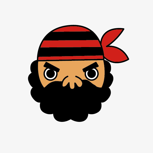 Beard clipart pirate beard. Cartoon bearded pirates png