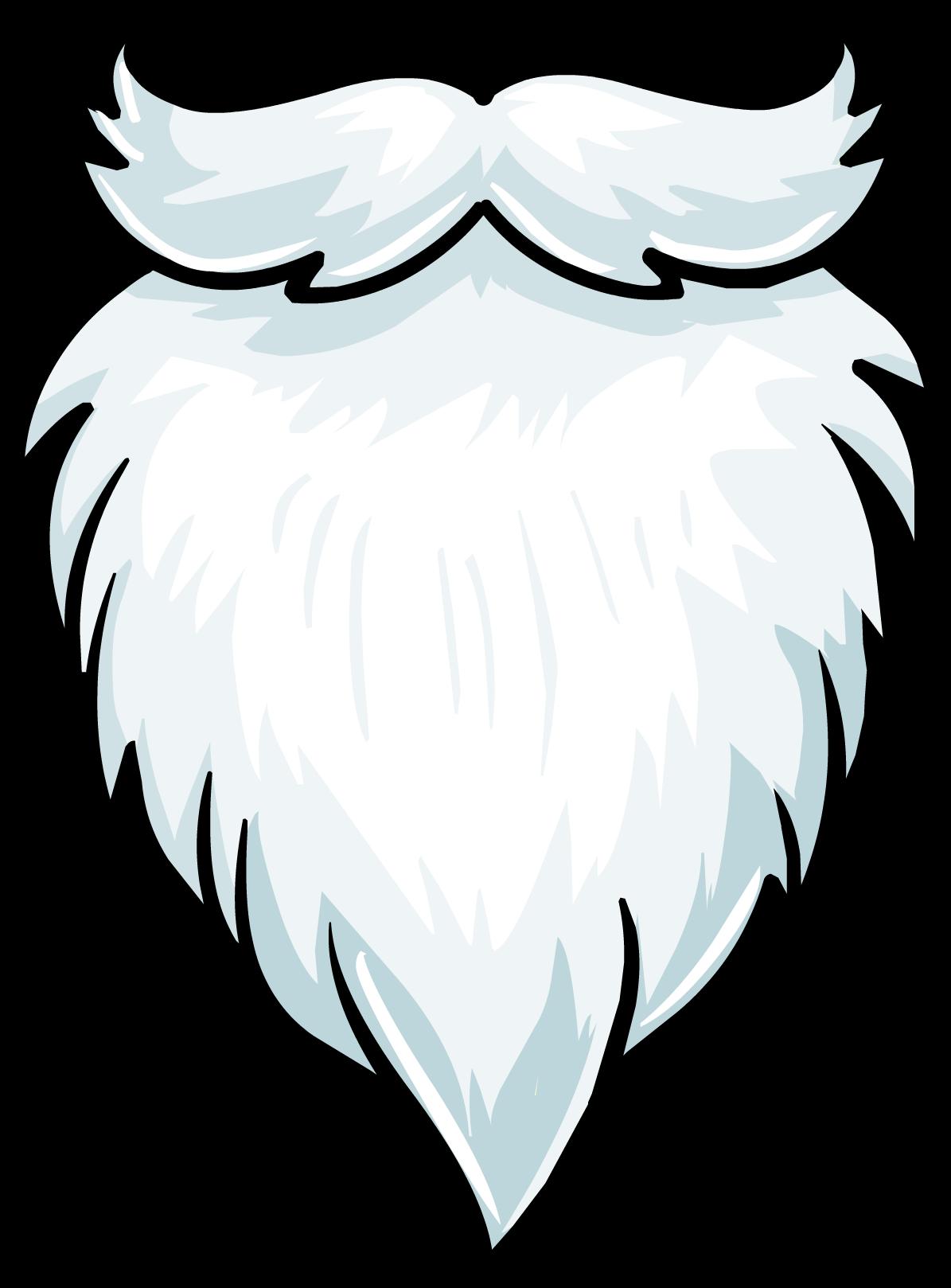 Santa beards four score. Beard clipart plain