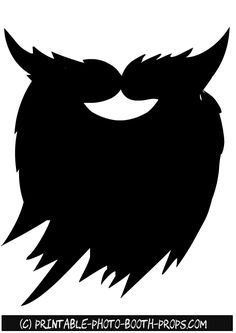 Ties from rock star. Beard clipart printable