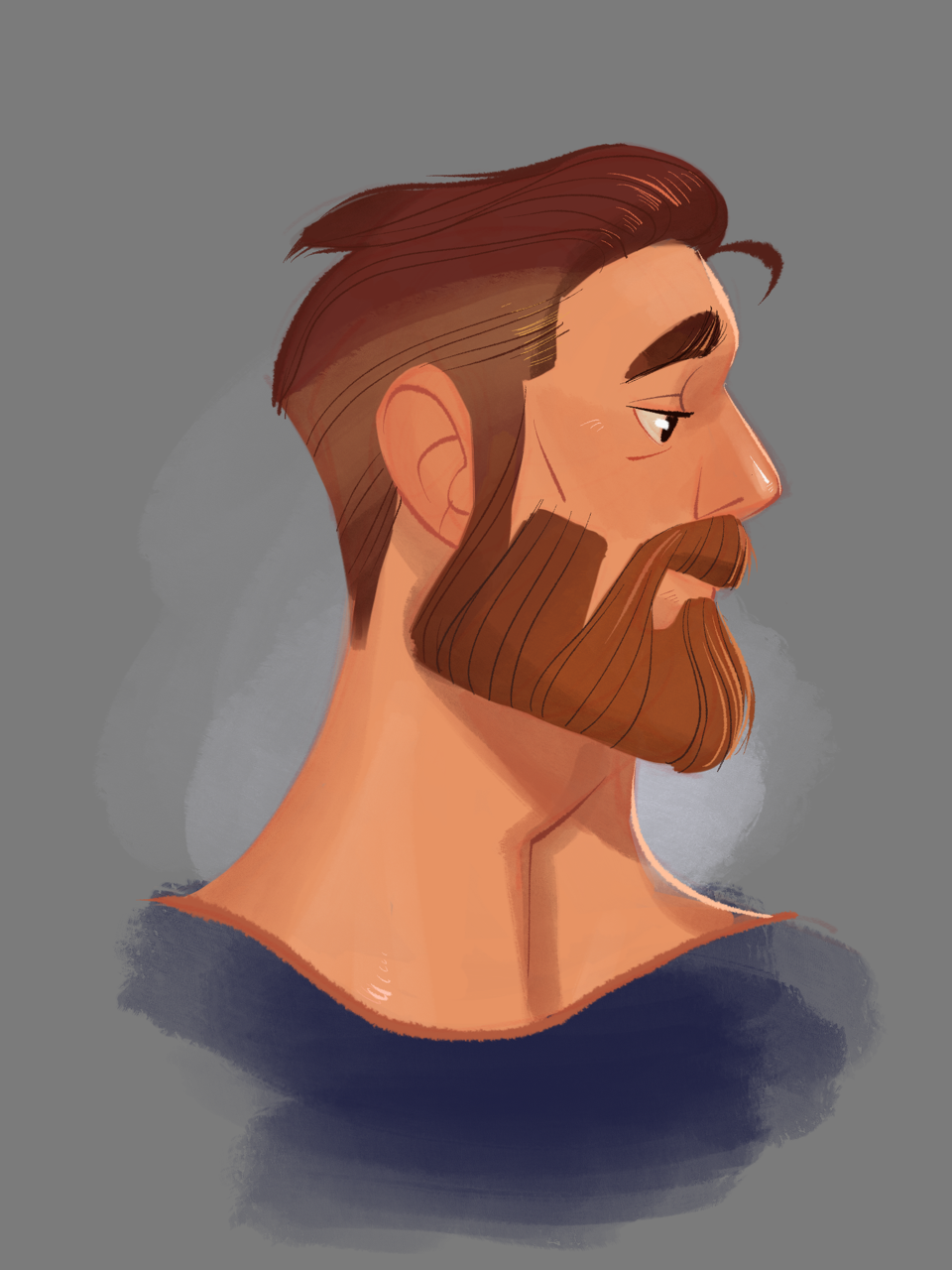 Beard clipart profile. Sketch practice by crumbelievable