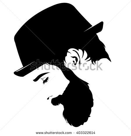Image result for bald. Beard clipart profile