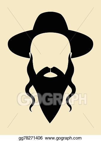 Vector illustration eps gg. Beard clipart rabbi