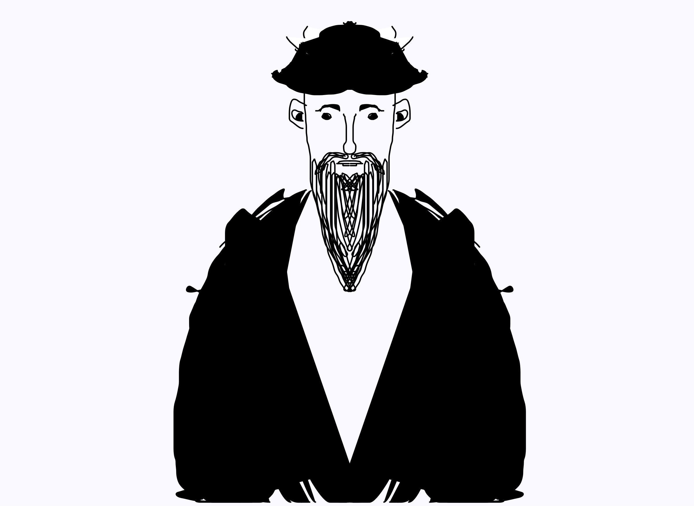 Big image png. Beard clipart rabbi
