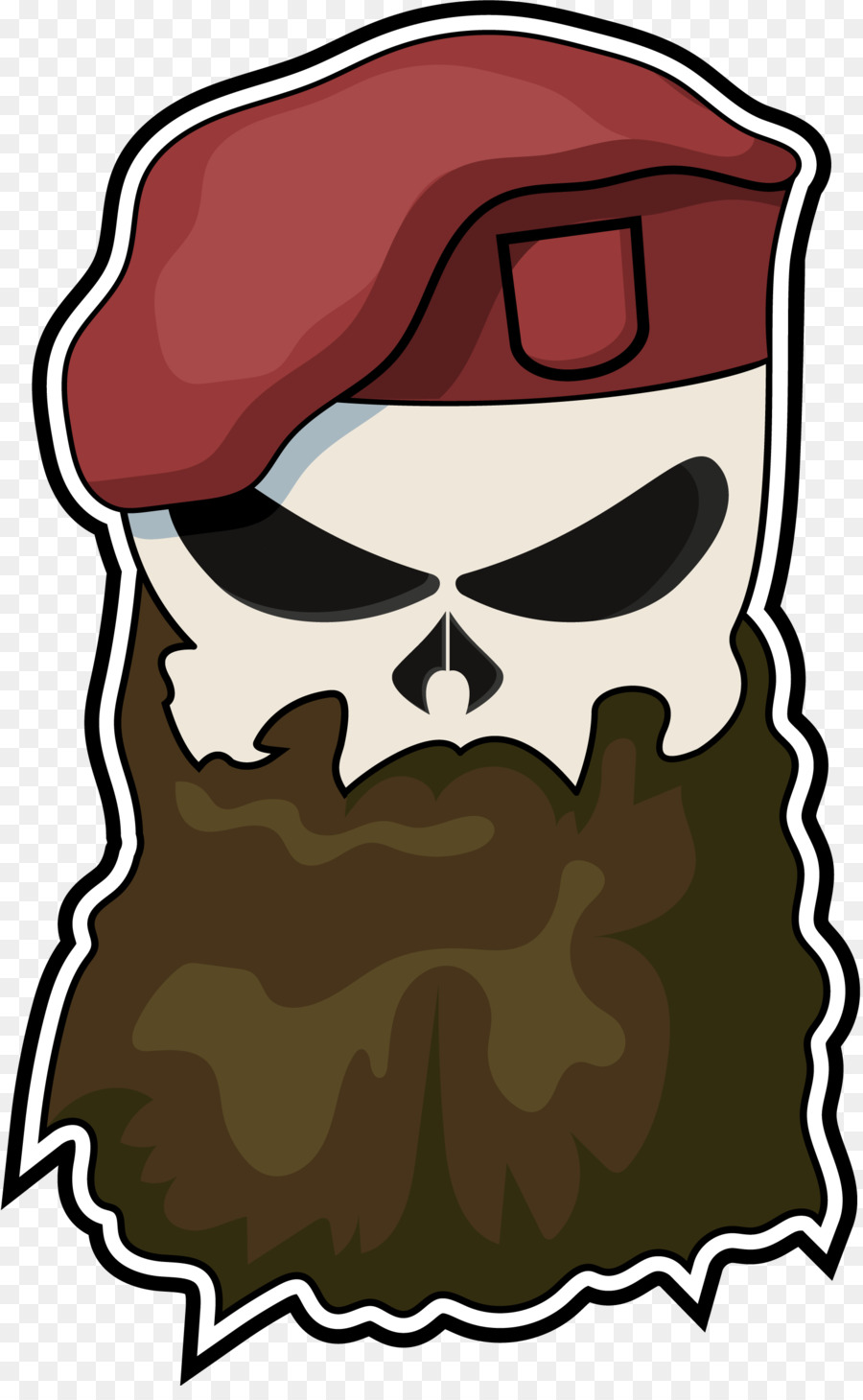 Decal sticker skull t. Beard clipart rabbi