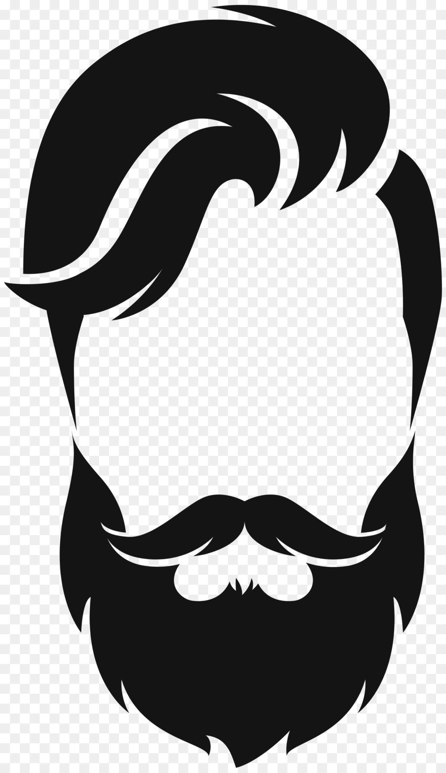 Silhouette moustache clip art. Beard clipart real