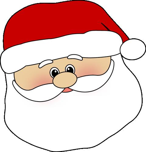 Cute face clip art. Beard clipart santa claus
