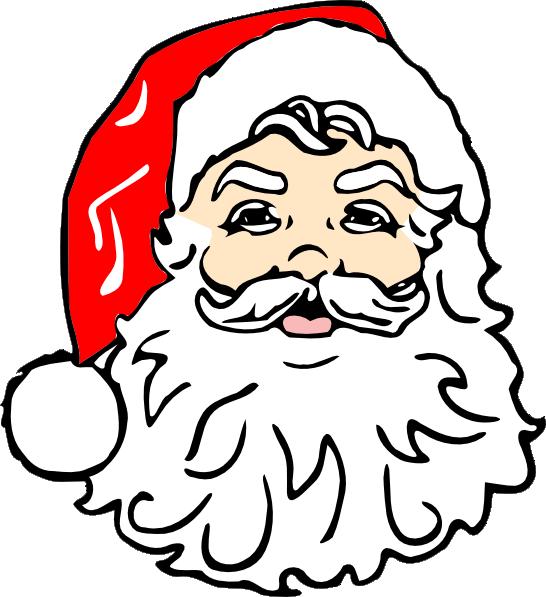 Classic clip art at. Beard clipart santa claus