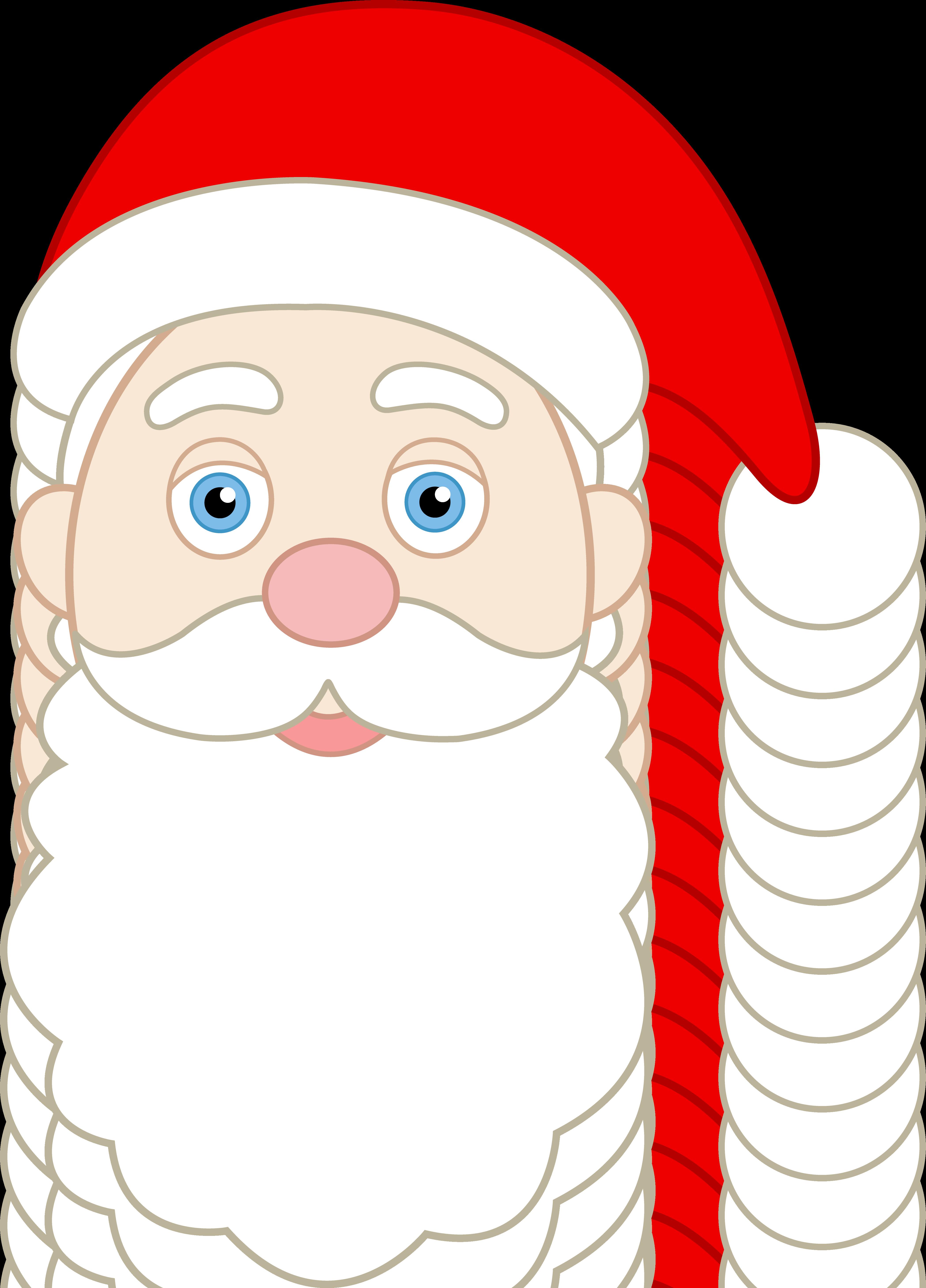 Santa Roller Hockey Player - Vector Clipart Santa