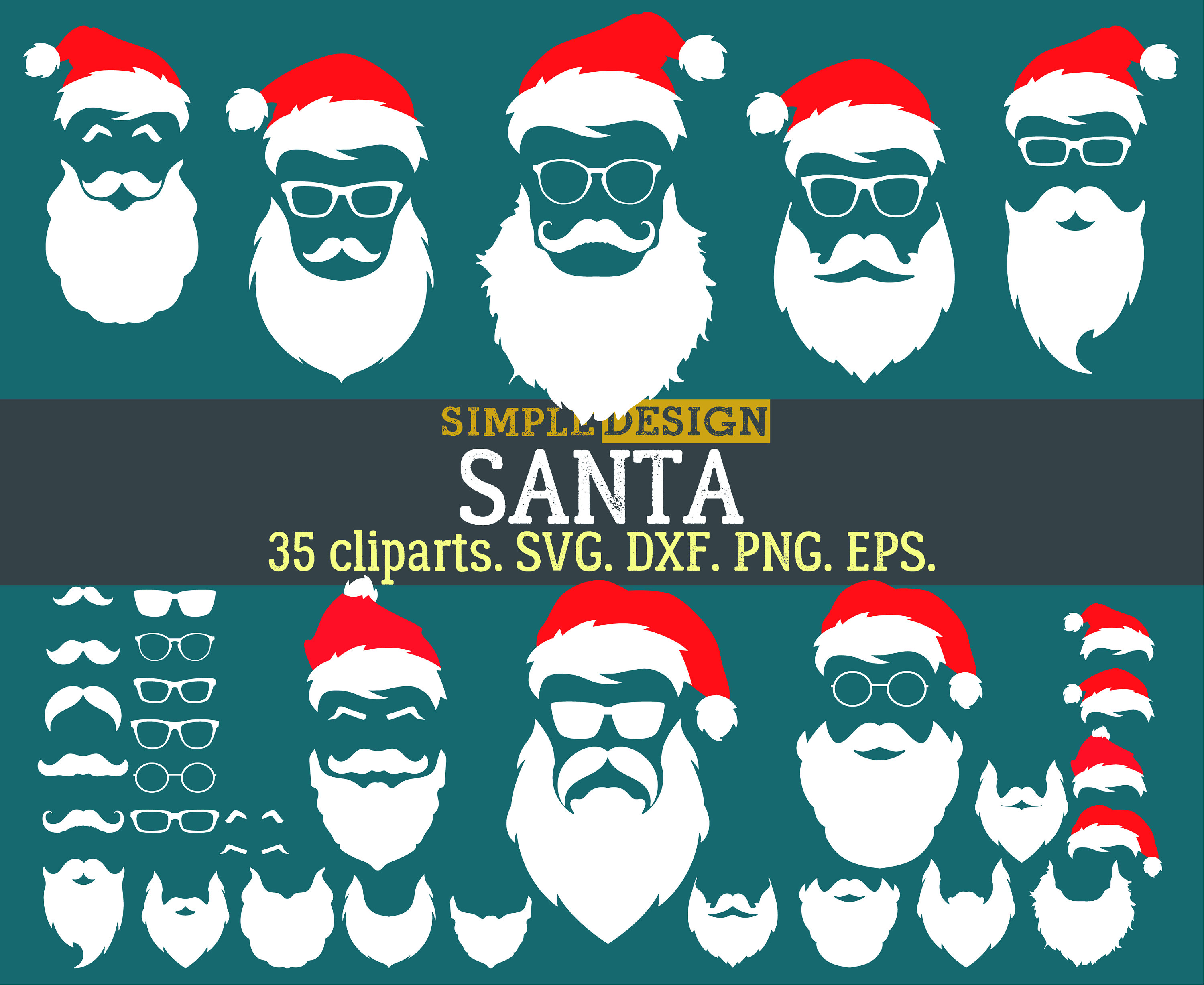 Beard clipart santa claus. Hipster svg christmas this