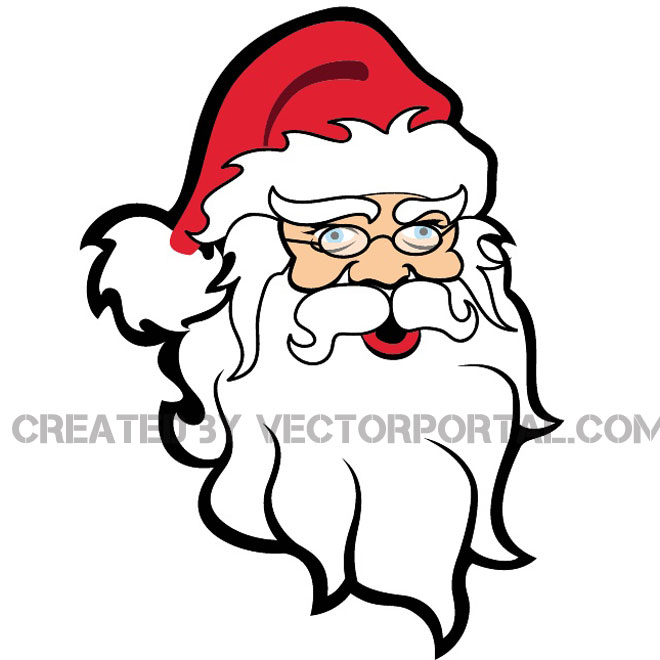 Face silhouette at getdrawings. Beard clipart santa claus